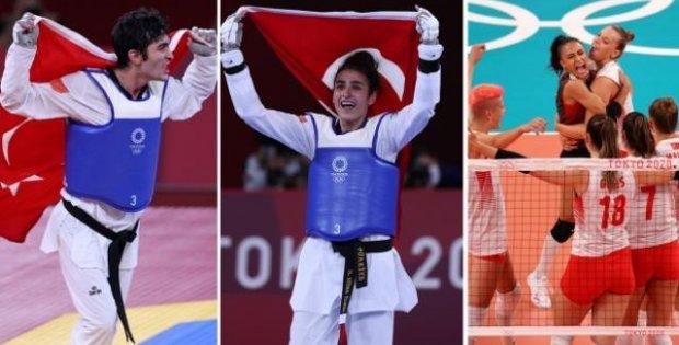 Olimpiyatların ikinci gününden Türkiye'ye iyi haberler